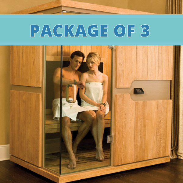 Infrared sauna package of 3 cleansing concepts colon hydrotherapy detox clay fit body Cleansing concepts garden city