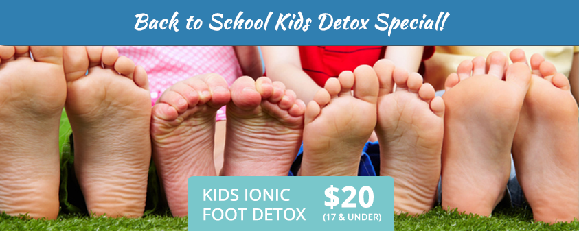 Back to School Kids Ionic Foot Detox $20